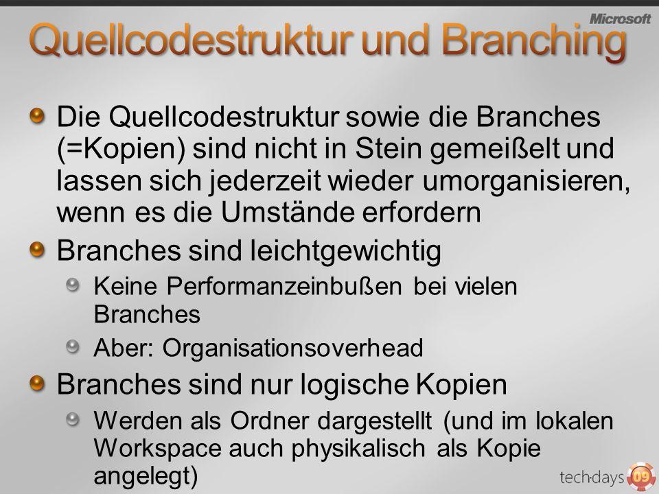 Quellcodestruktur und Branching