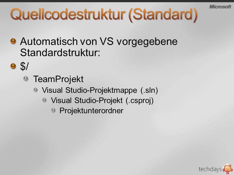 Quellcodestruktur (Standard)