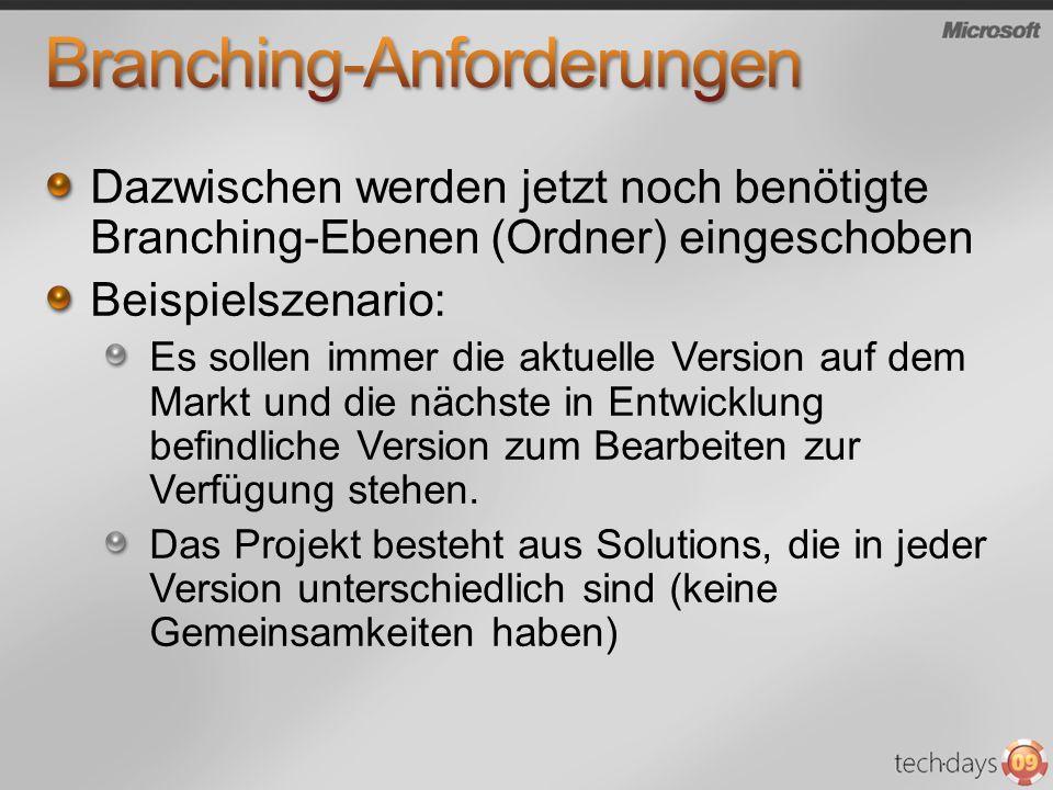 Branching-Anforderungen