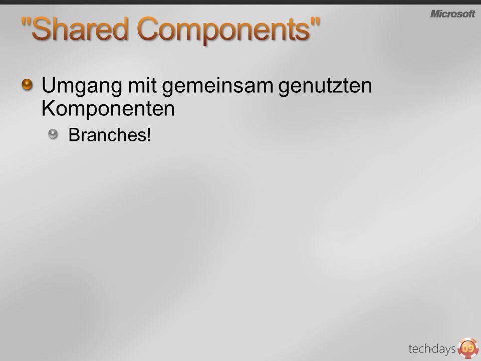 Shared Components Umgang mit gemeinsam genutzten Komponenten