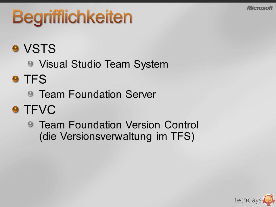 Begrifflichkeiten VSTS TFS TFVC Visual Studio Team System