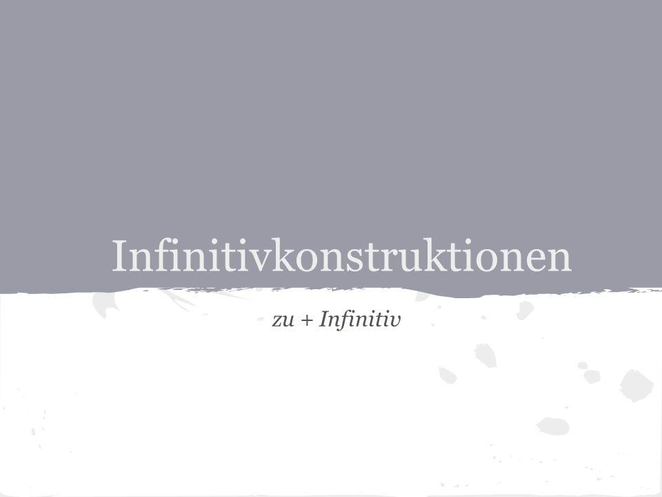 Infinitivkonstruktionen