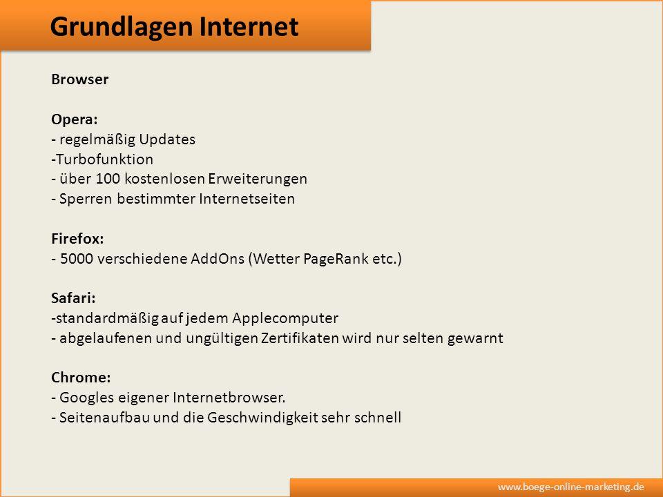 Grundlagen Internet Browser Opera: regelmäßig Updates Turbofunktion