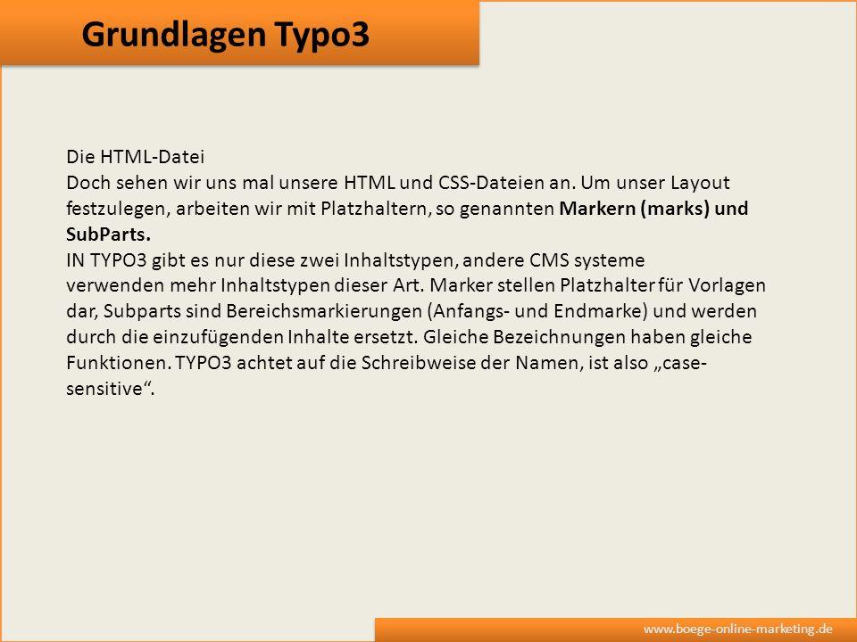 Grundlagen Typo3 Die HTML-Datei