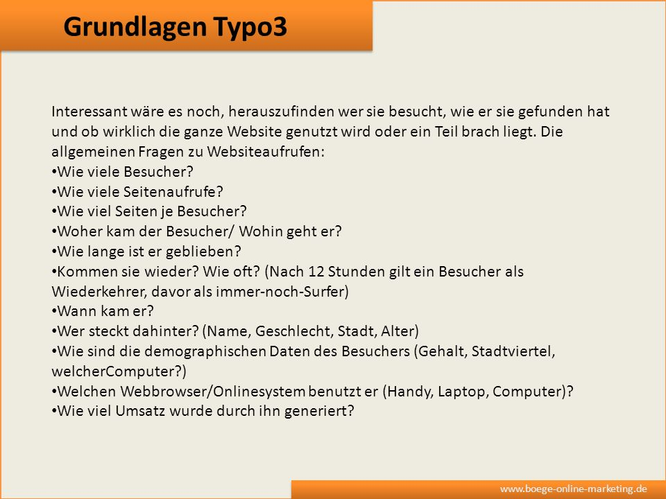 Grundlagen Typo3