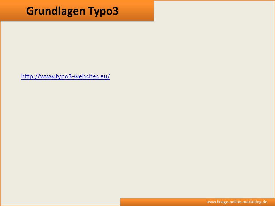 Grundlagen Typo3 http://www.typo3-websites.eu/
