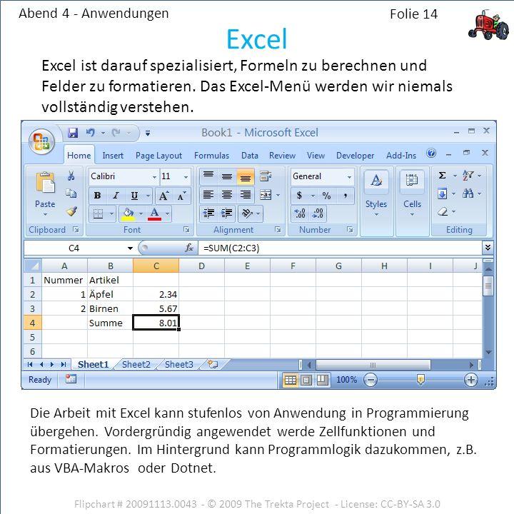 Abend 4 - Anwendungen Excel.