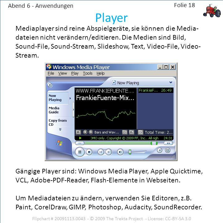 Abend 6 - Anwendungen Player.