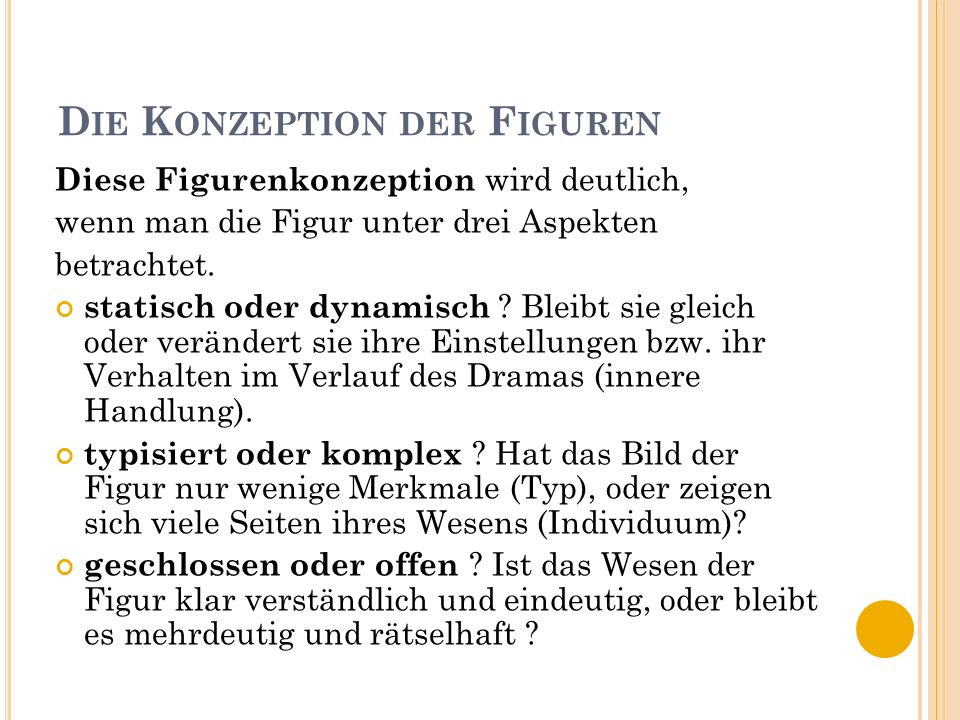 Die Konzeption der Figuren