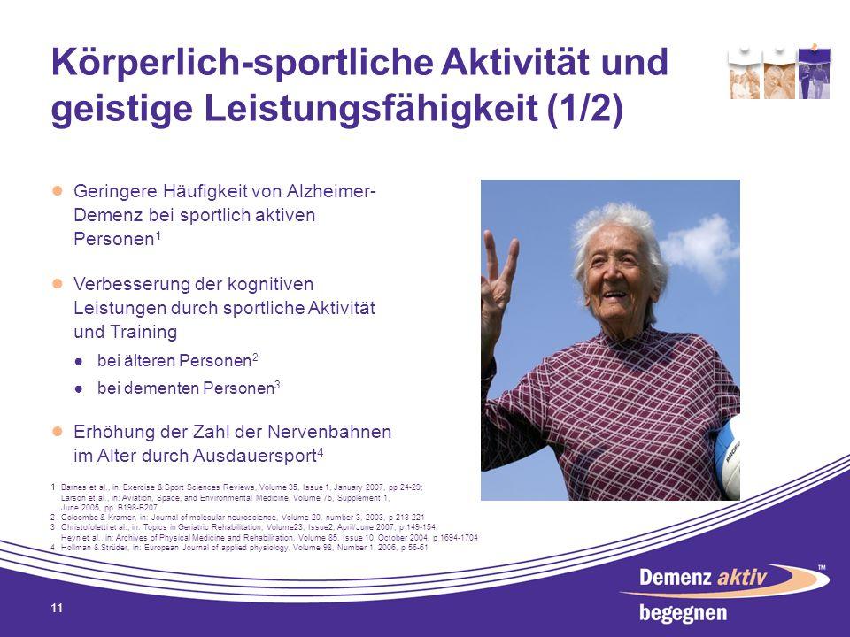 Körperlich-sportliche Aktivität und geistige Leistungsfähigkeit (1/2)