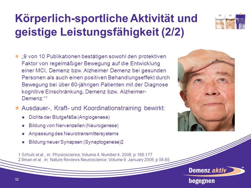 Körperlich-sportliche Aktivität und geistige Leistungsfähigkeit (2/2)