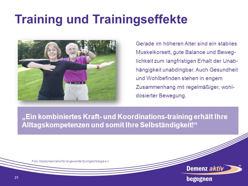 Training und Trainingseffekte