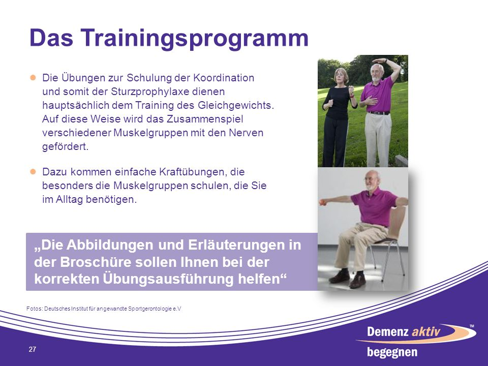 Das Trainingsprogramm