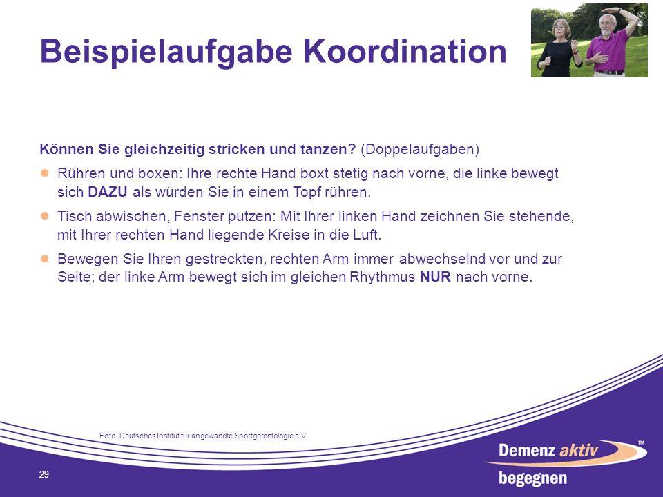 Beispielaufgabe Koordination