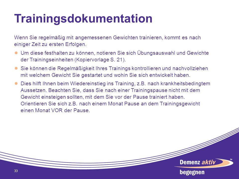 Trainingsdokumentation