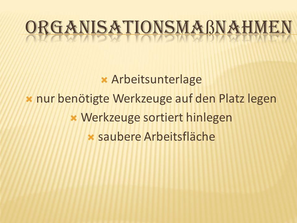 Organisationsmaßnahmen
