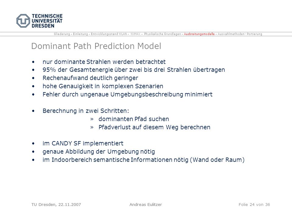 Dominant Path Prediction Model