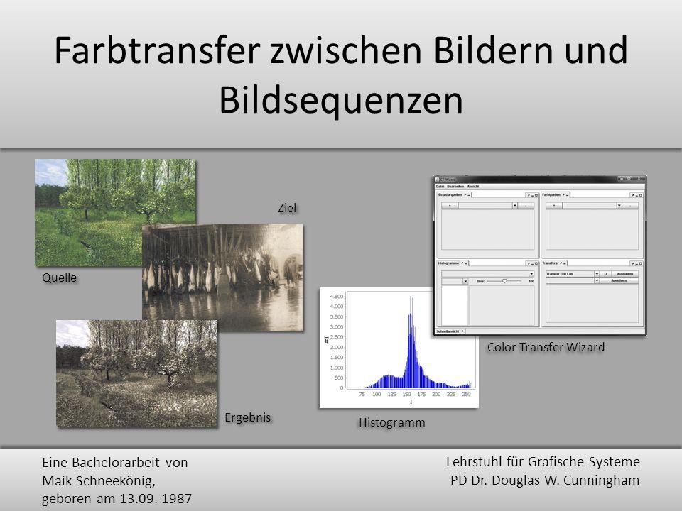 Farbtransfer zwischen Bildern und Bildsequenzen