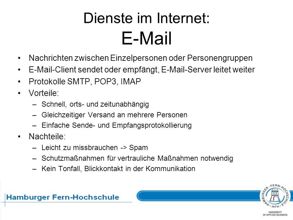 Dienste im Internet: E-Mail