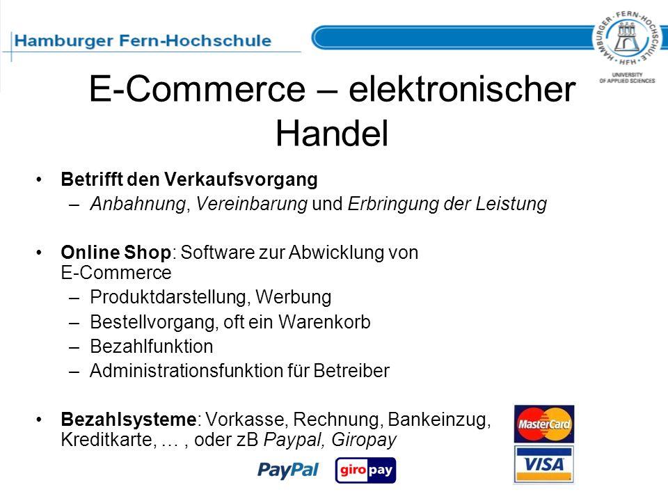 E-Commerce – elektronischer Handel