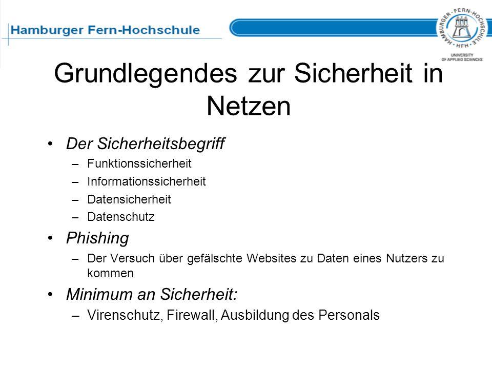 Grundlegendes zur Sicherheit in Netzen