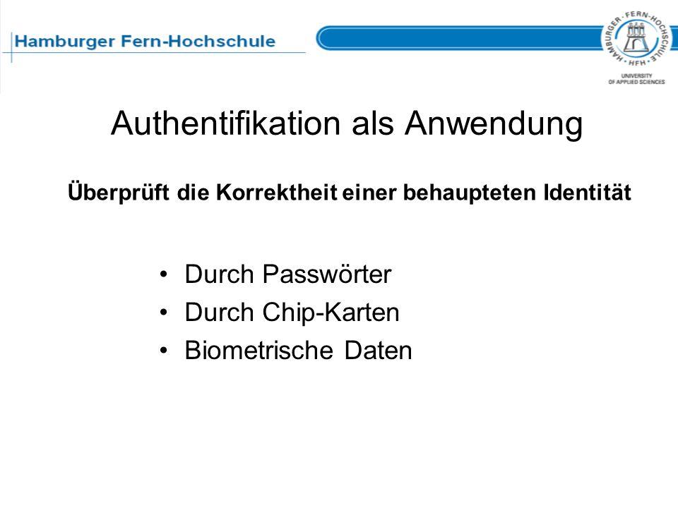 Authentifikation als Anwendung