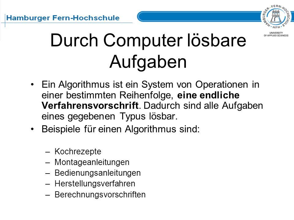 Durch Computer lösbare Aufgaben