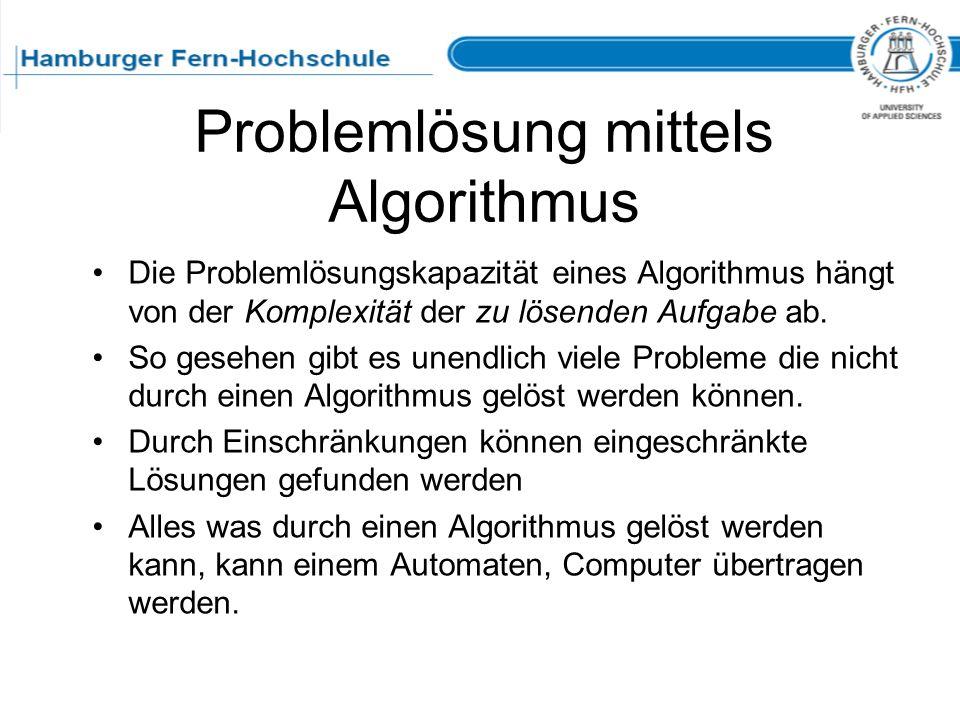 Problemlösung mittels Algorithmus