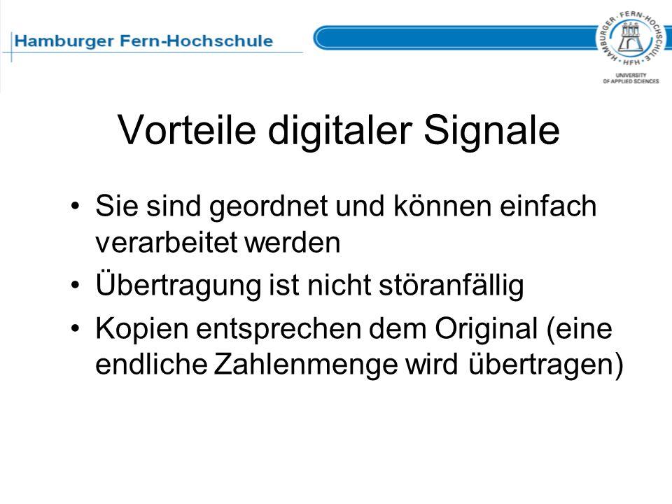 Vorteile digitaler Signale