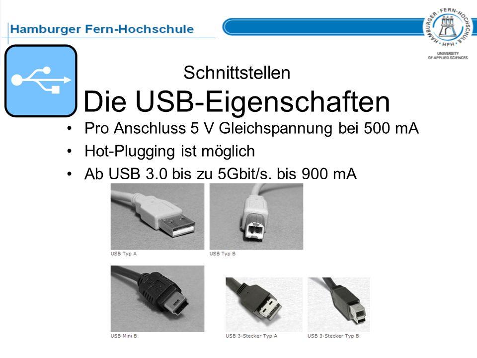 Schnittstellen Die USB-Eigenschaften