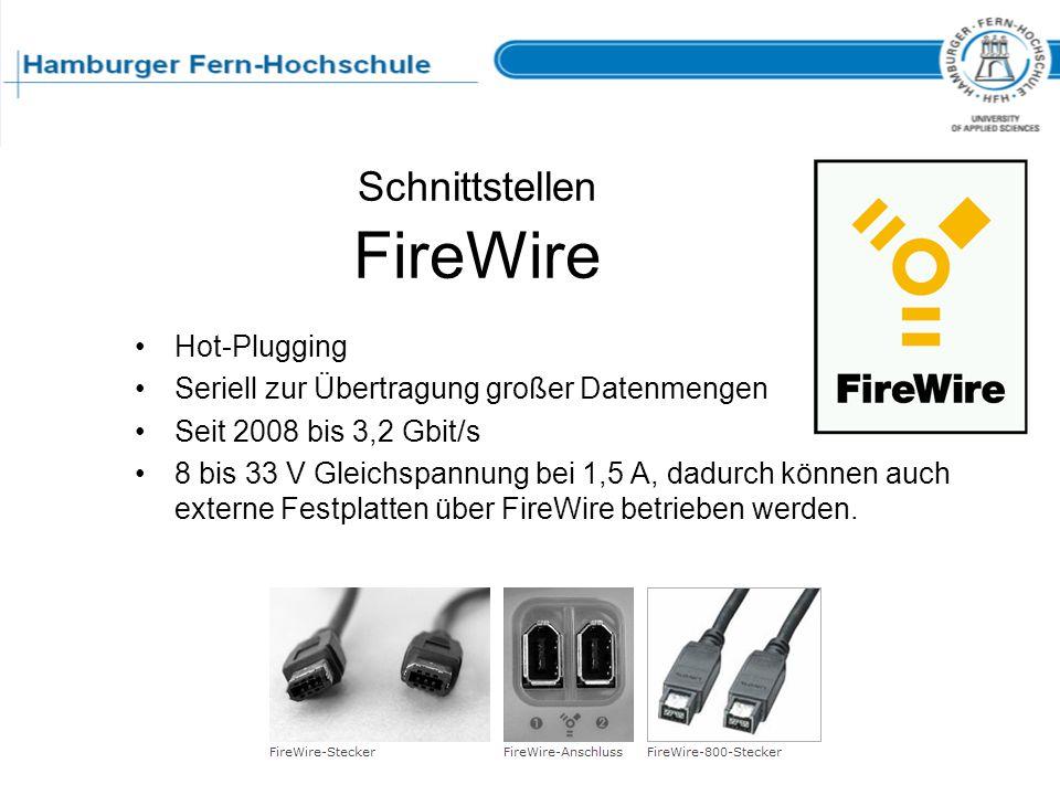 Schnittstellen FireWire
