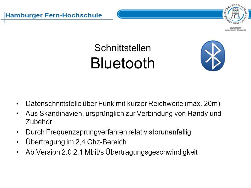 Schnittstellen Bluetooth