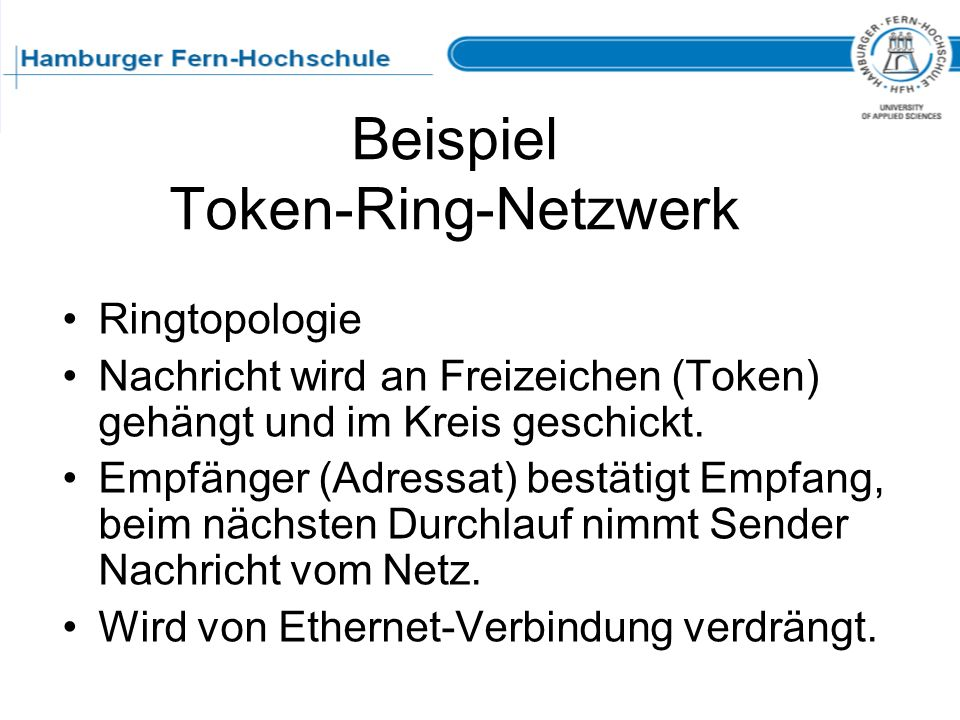 Beispiel Token-Ring-Netzwerk