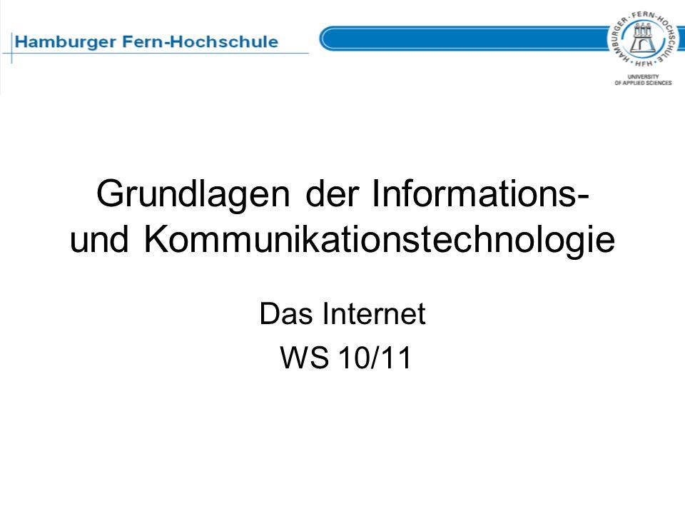 Grundlagen der Informations- und Kommunikationstechnologie