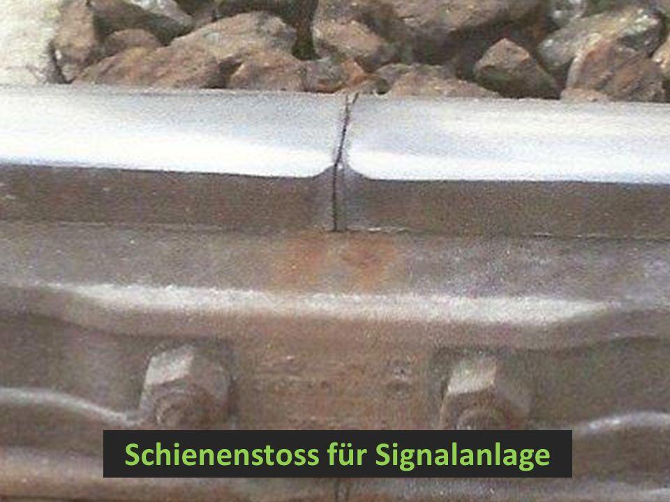 Schienenstoss für Signalanlage