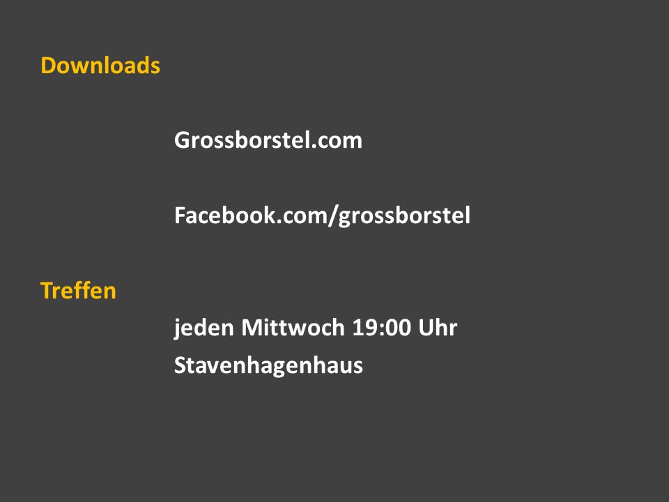 Downloads Grossborstel. com Facebook