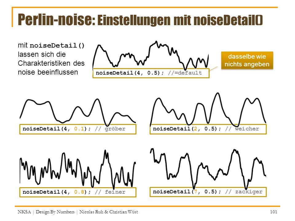 Perlin-noise: Einstellungen mit noiseDetail()
