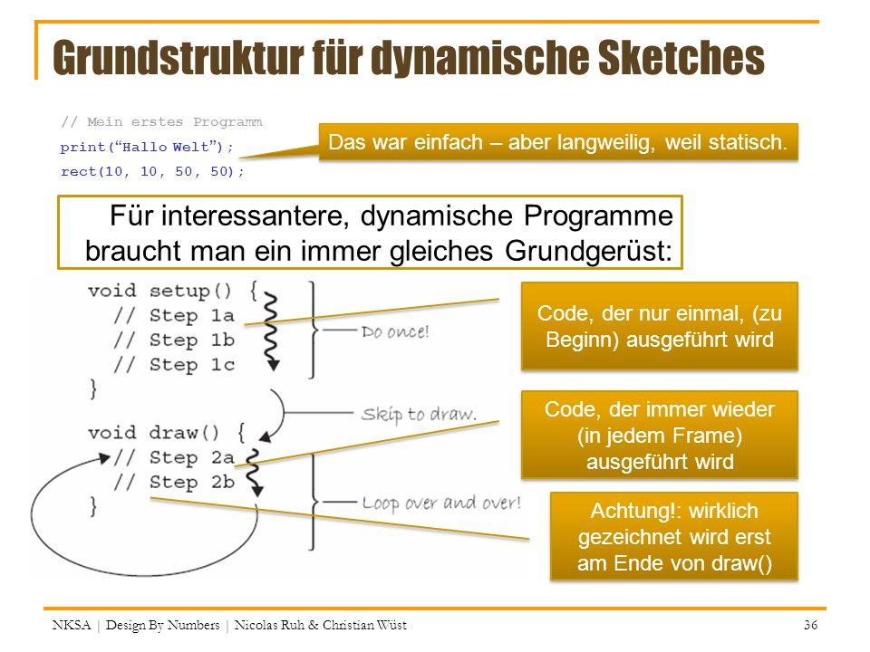 Grundstruktur für dynamische Sketches