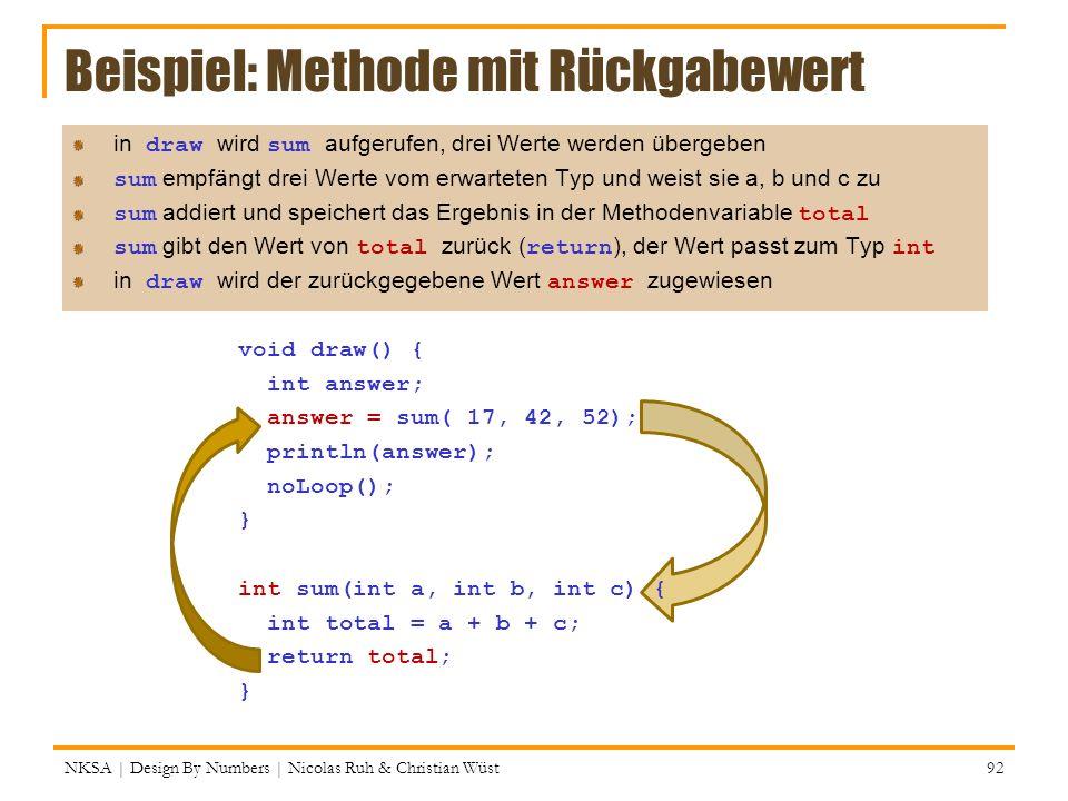 Beispiel: Methode mit Rückgabewert