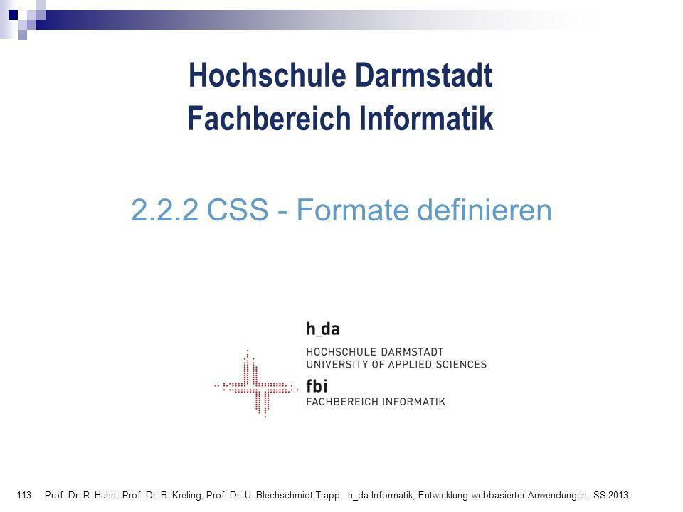 2.2.2 CSS - Formate definieren