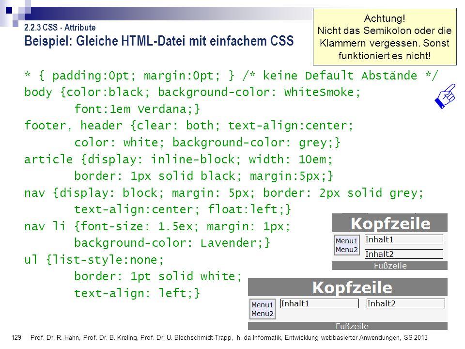 Beispiel: Gleiche HTML-Datei mit einfachem CSS