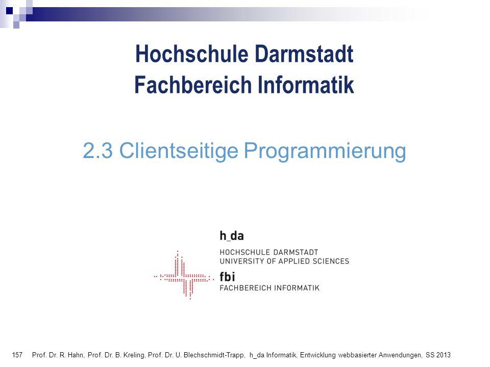 2.3 Clientseitige Programmierung