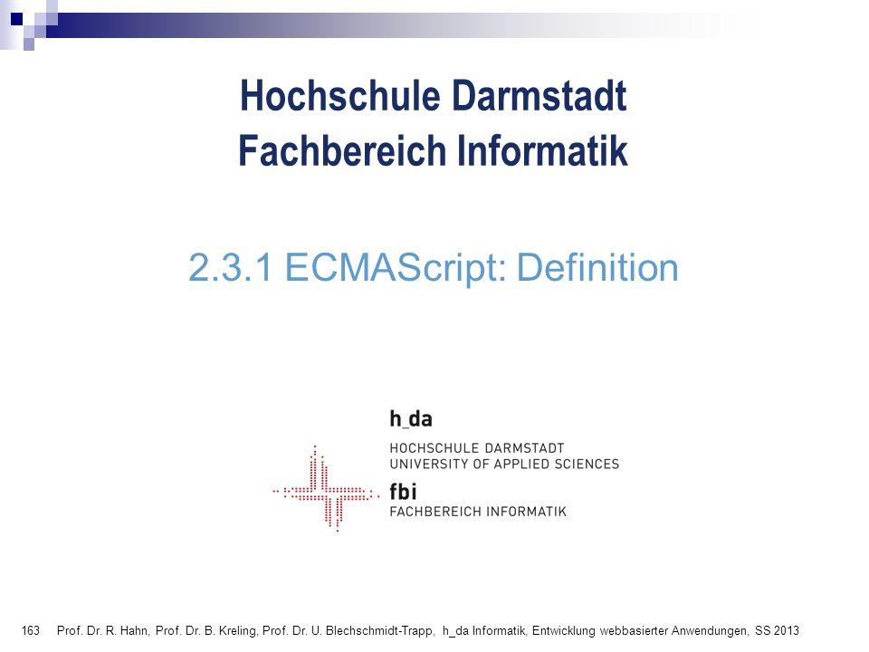 2.3.1 ECMAScript: Definition