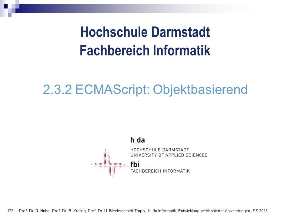 2.3.2 ECMAScript: Objektbasierend