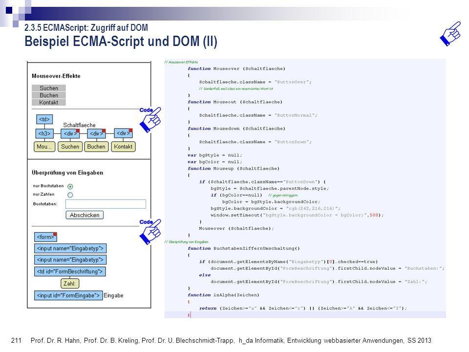 Beispiel ECMA-Script und DOM (II)
