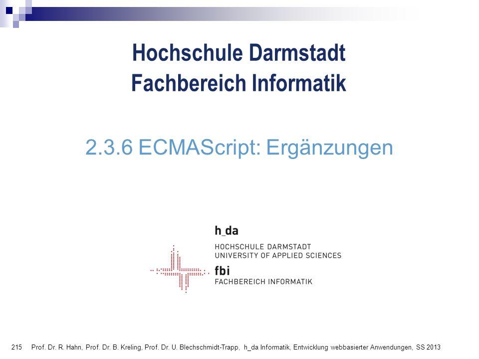 2.3.6 ECMAScript: Ergänzungen