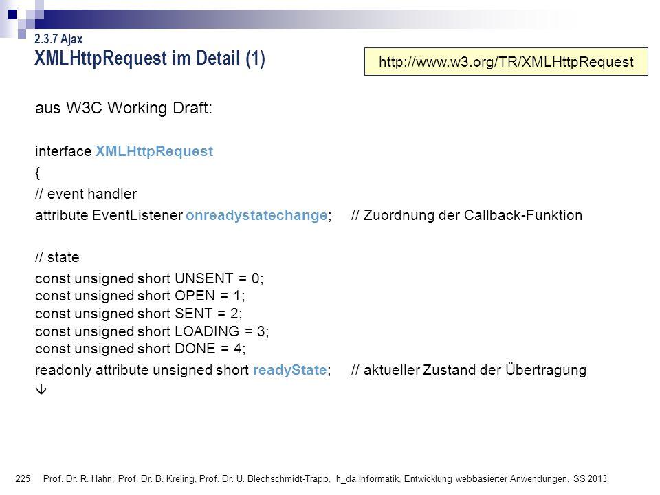 XMLHttpRequest im Detail (1)