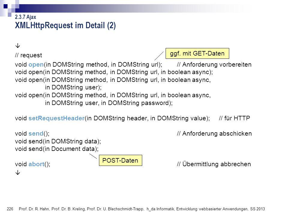 XMLHttpRequest im Detail (2)