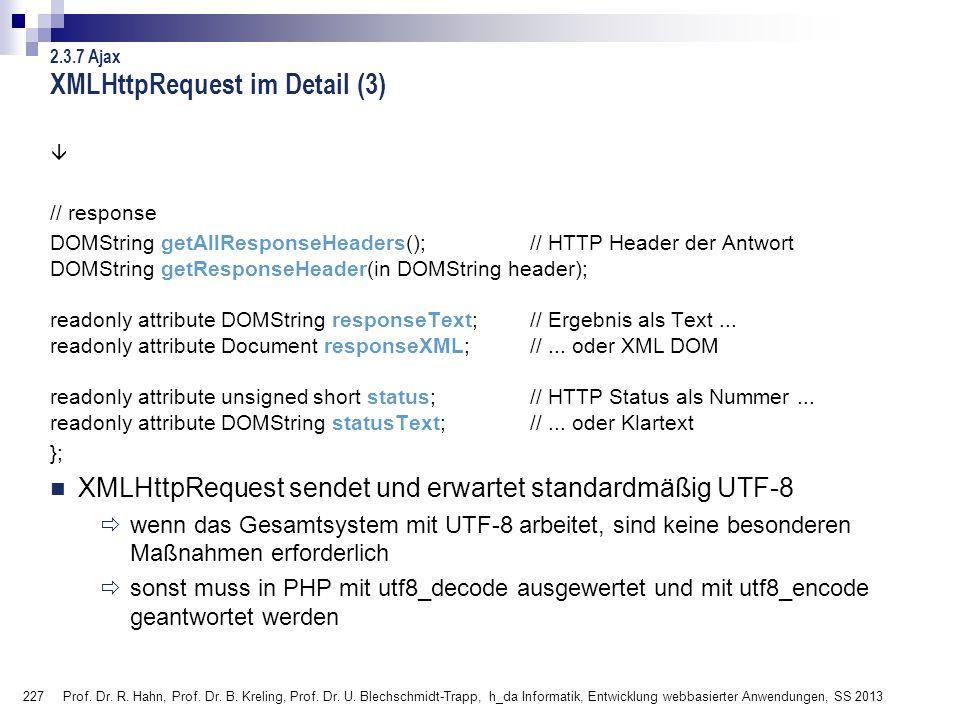 XMLHttpRequest im Detail (3)