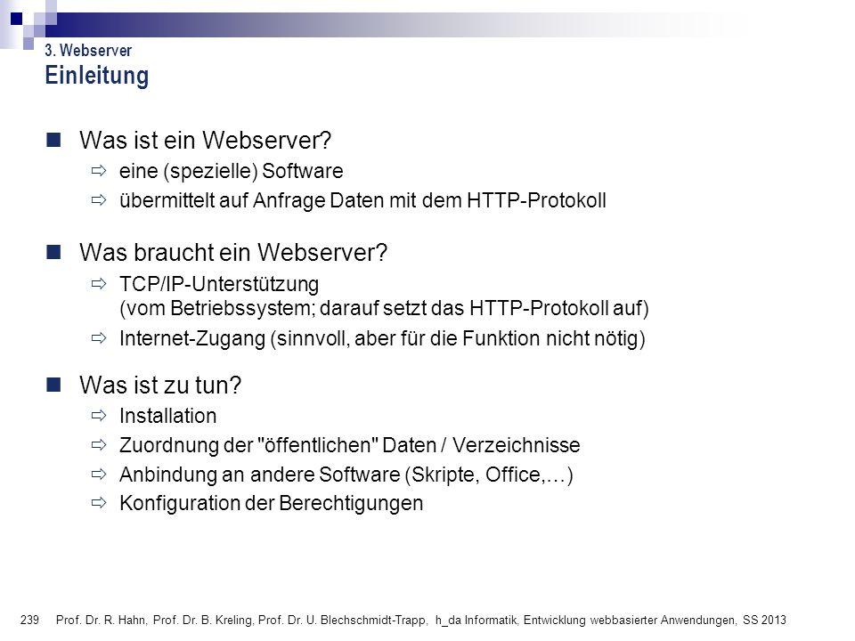 Einleitung Was ist ein Webserver Was braucht ein Webserver